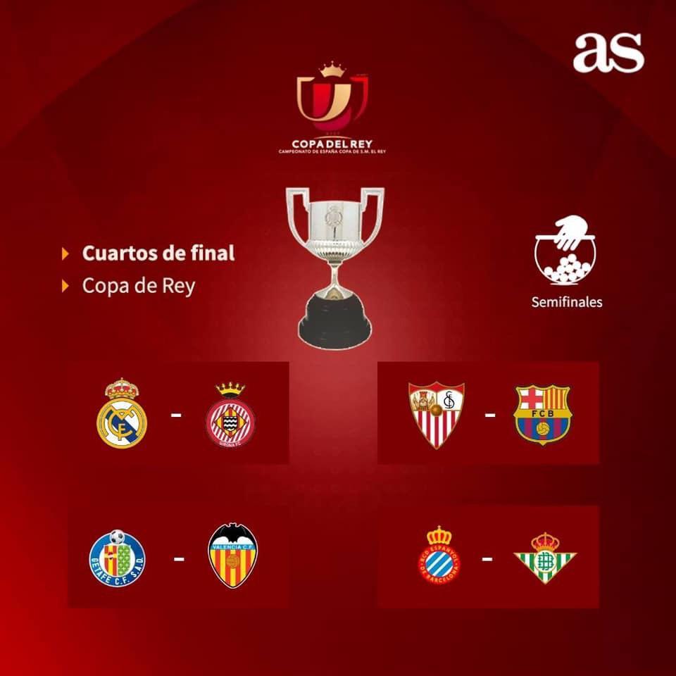 Definidos los cuartos de final de la Copa del Rey | CRC 891
